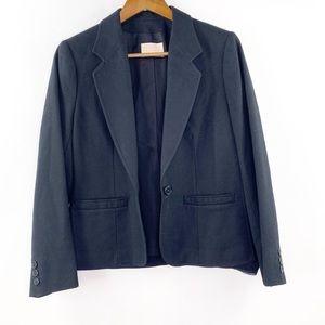 Pendleton Womens Sz 8 Black Wool Blazer Jacket M